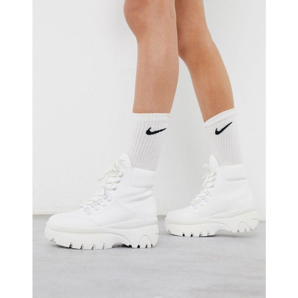 ニュールック New Look レディース ハイキング・登山 レースアップブーツ シューズ・靴【lace up hiker boots in white】White