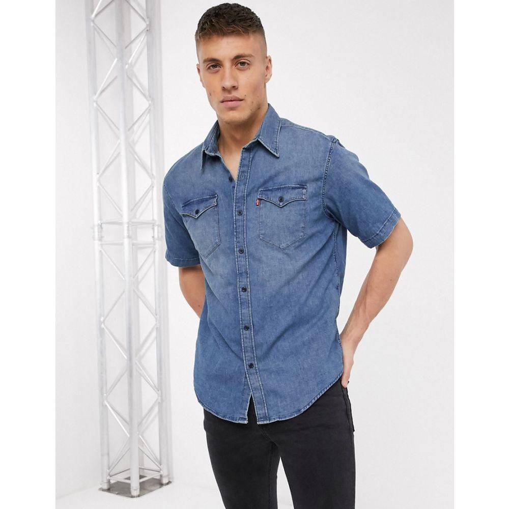 リーバイス Levi's メンズ 半袖シャツ デニム トップス【barstow denim short sleeve shirt】Blue
