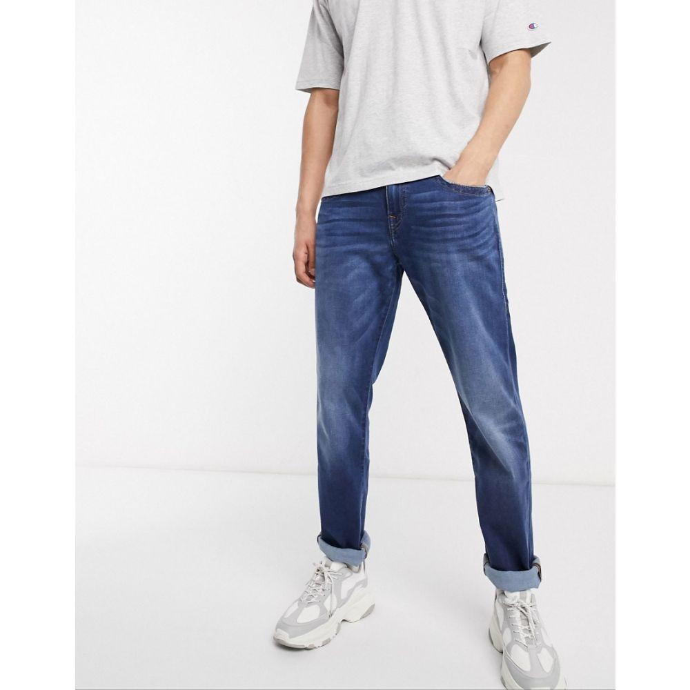 トゥルー レリジョン True Religion メンズ ジーンズ・デニム ボトムス・パンツ【Geno no flap 32 inseam straight jeans】Blue