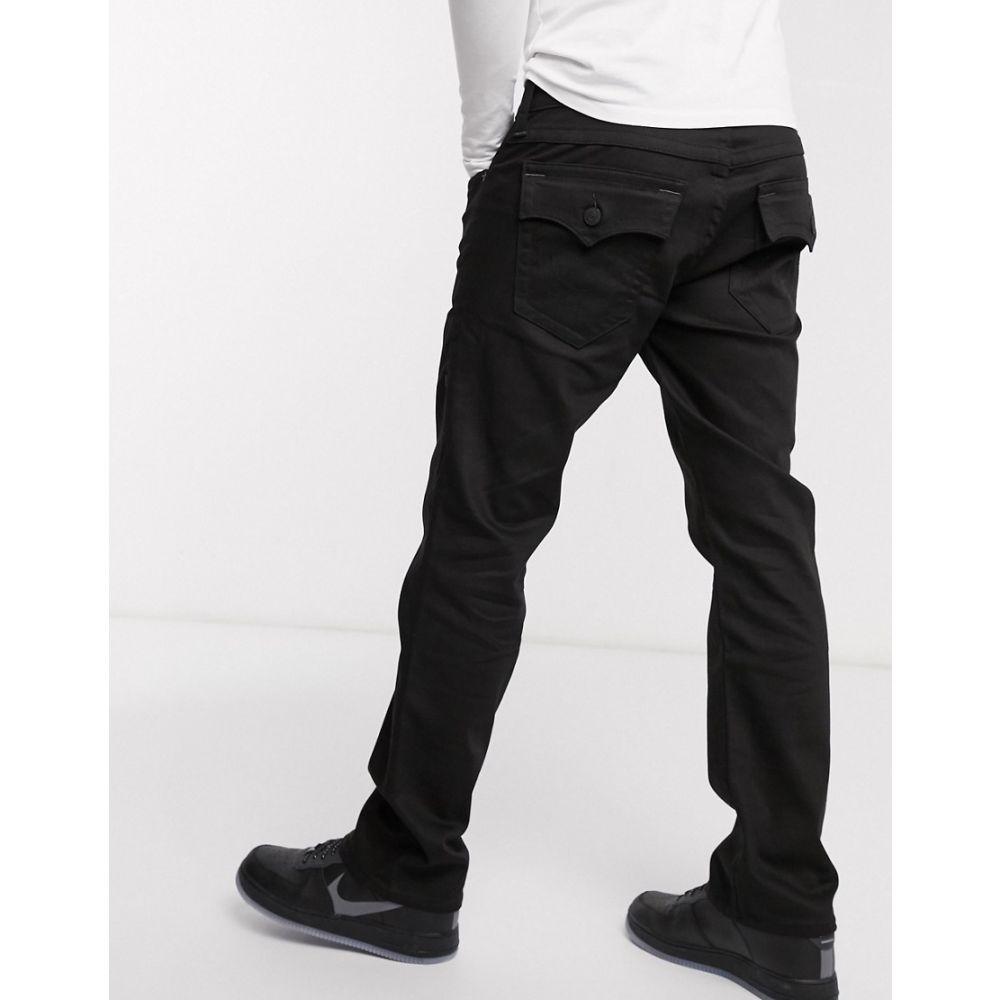 トゥルー レリジョン True Religion メンズ ジーンズ・デニム ボトムス・パンツ【Ricky flap straight jeans】Black