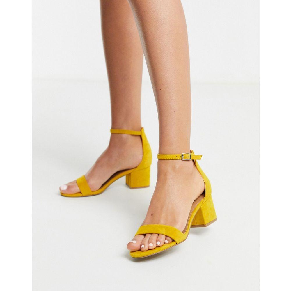 スティーブ マデン Steve Madden レディース サンダル・ミュール シューズ・靴【leather block heeled sandal in yellow】Yellow seude