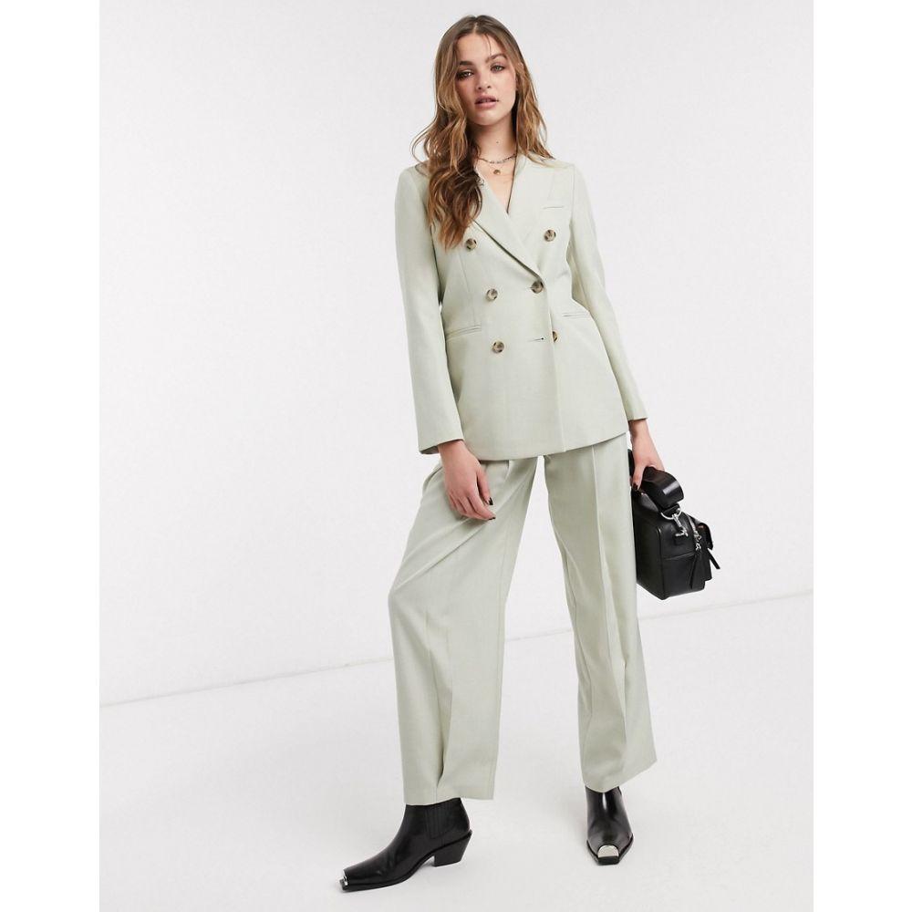 トップショップ Topshop レディース ボトムス・パンツ 【tailored trousers co-ord in pale green】Green