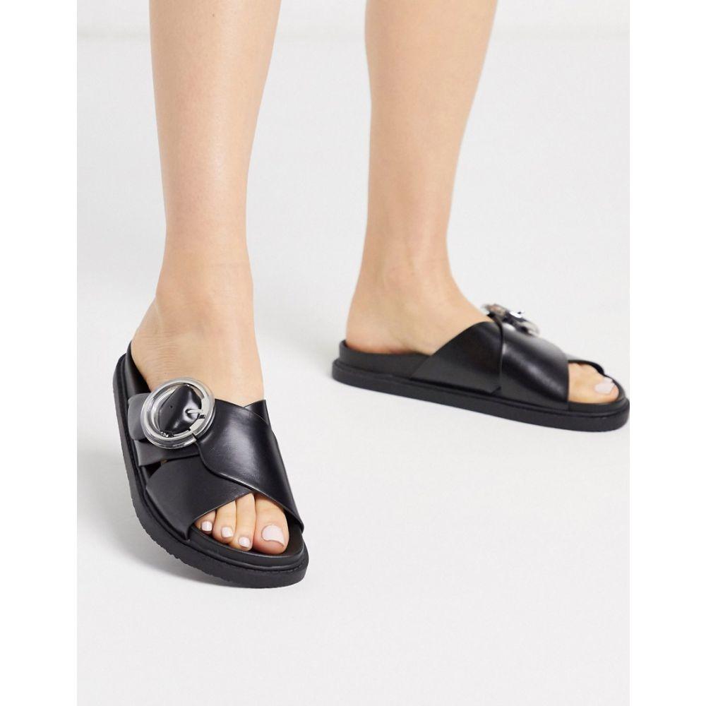 トップショップ Topshop レディース サンダル・ミュール シューズ・靴【sliders in black】Black
