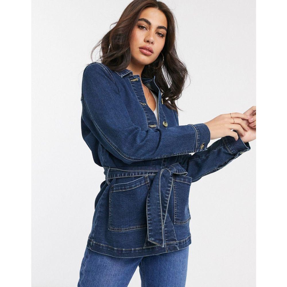ヴィラ Vila レディース ジャケット Gジャン アウター【denim jacket with belt in blue】Blue