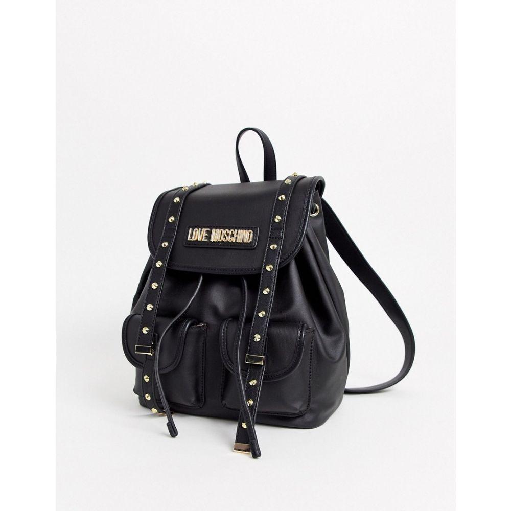 モスキーノ Love Moschino レディース バックパック・リュック バッグ【studded backpack in black】Black