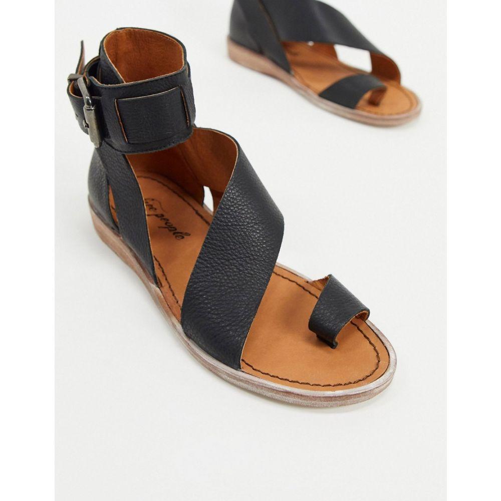フリーピープル Free People レディース サンダル・ミュール シューズ・靴【vale asymmetric strap sandals in black】Black