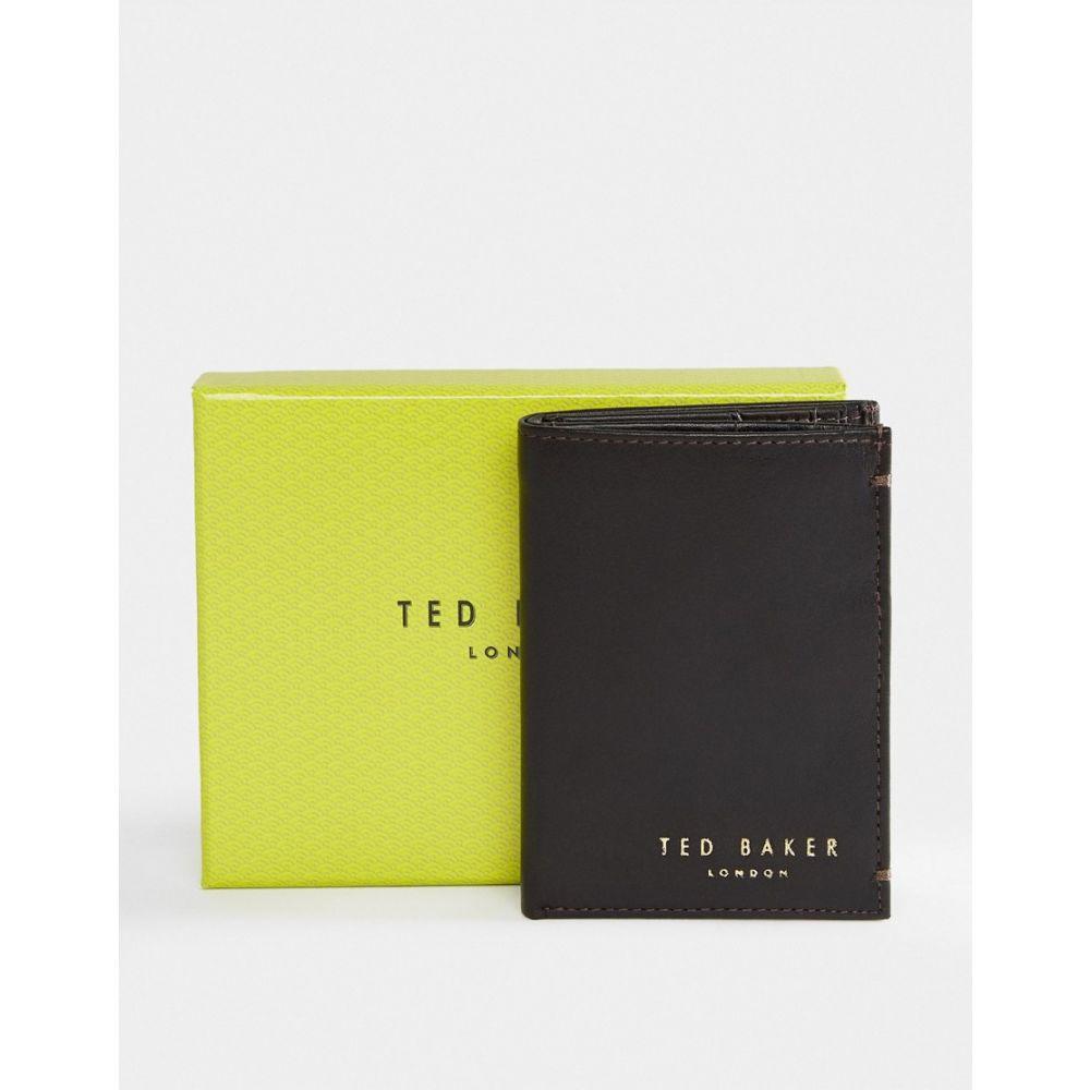 テッドベーカー Ted Baker メンズ 財布 二つ折り【Zacks bi-fold leather wallet】Brown