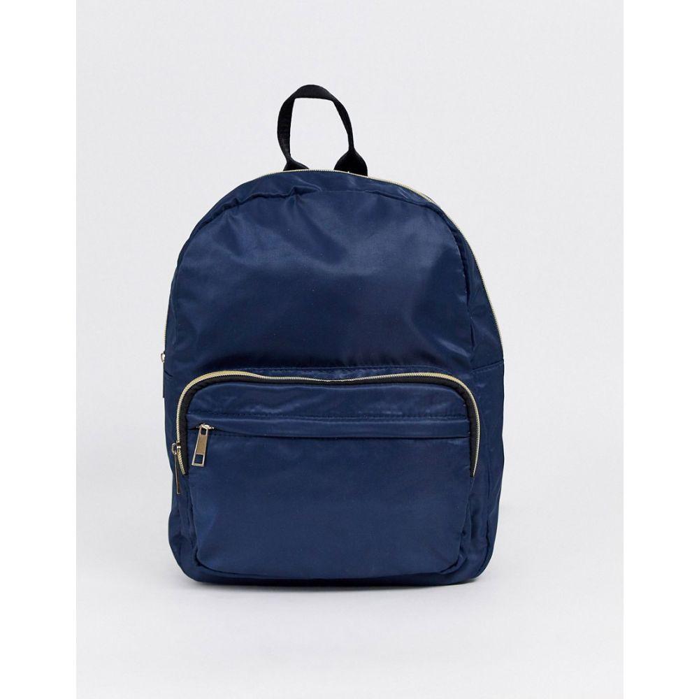 ヨキ ファッション Yoki Fashion レディース バックパック・リュック バッグ【zip pocket backpack】Navy