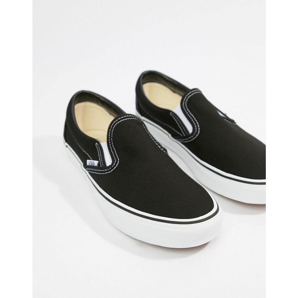 ヴァンズ Vans メンズ スリッポン・フラット シューズ・靴【Classic Slip-On trainers in black and white】Black/white