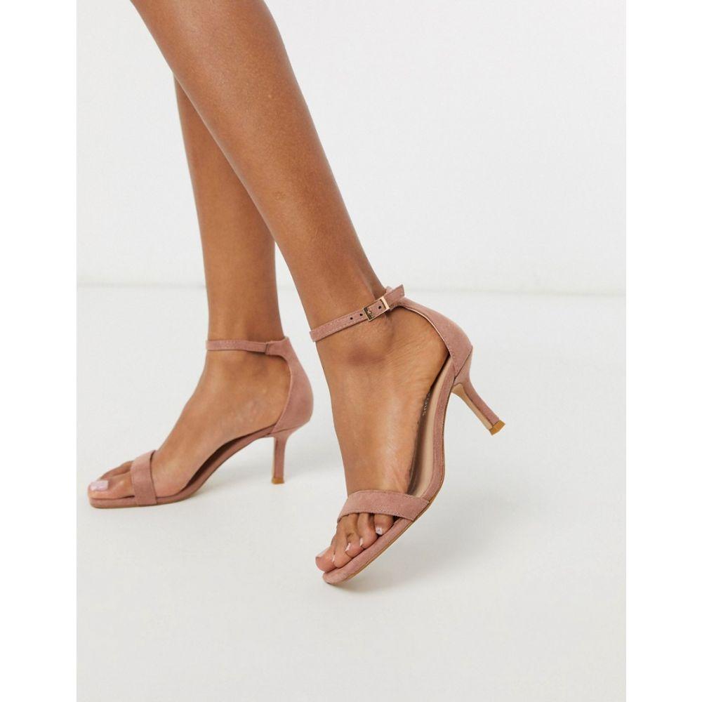 グラマラス Glamorous レディース サンダル・ミュール スクエアトゥ シューズ・靴【square toe kitten heeled sandal in blush pink】Pink blush