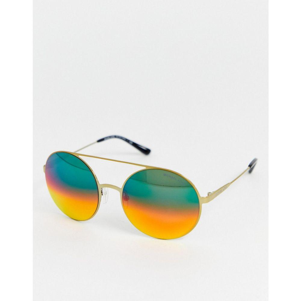 マイケル コース MICHAEL Michael Kors レディース メガネ・サングラス ラウンド【Michael Kors round frame sunglasses】Gold