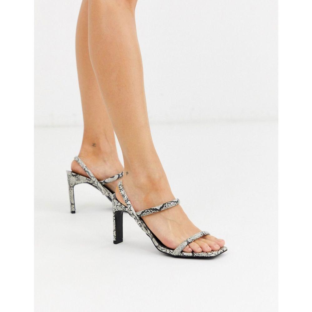 ミス セルフリッジ Miss Selfridge レディース サンダル・ミュール シューズ・靴【2 part snakeskin sandals】Snake