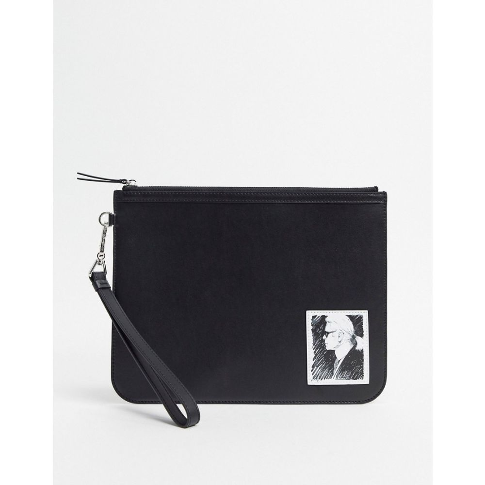 カール ラガーフェルド Karl Lagerfeld レディース ポーチ 【karl legend luxury is an elegance pouch】True black
