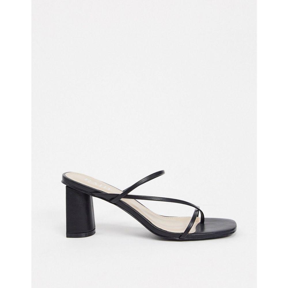 レイド Raid レディース サンダル・ミュール シューズ・靴【RAID Brioni skinny strap mule sandals in black】Black