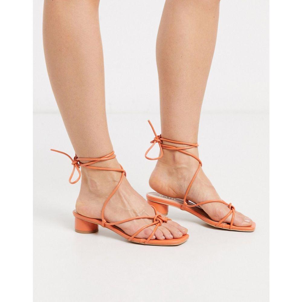 レイド Raid レディース サンダル・ミュール シューズ・靴【RAID Isobel strappy low heel sandals in coral】Coral pu