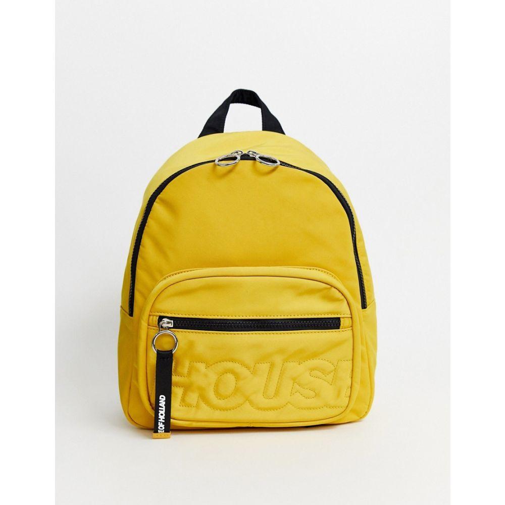ハウス オブ ホーランド House of Holland レディース バックパック・リュック バッグ【nylon back pack】Yellow