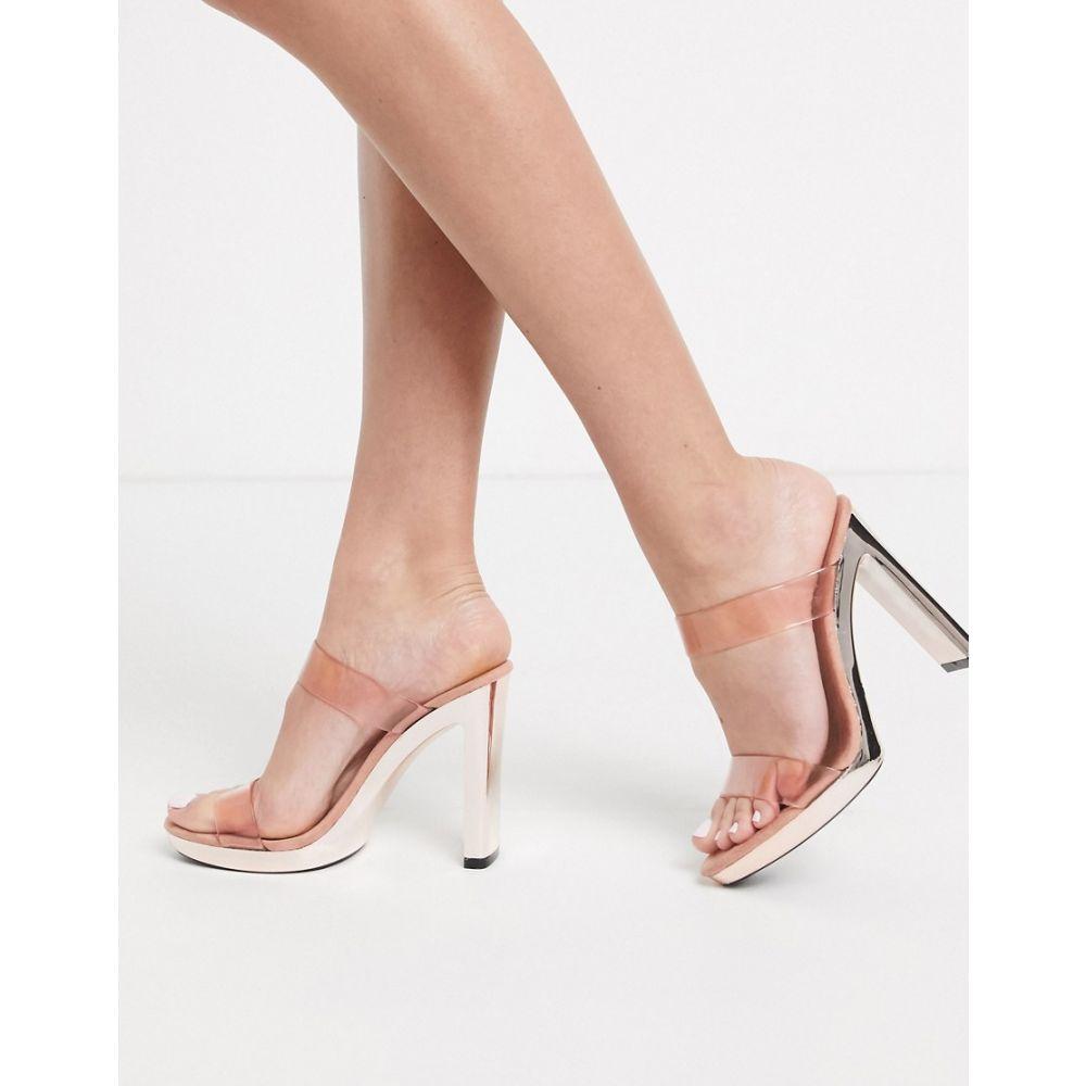 パブリックディザイア Public Desire レディース サンダル・ミュール シューズ・靴【Samia platfrom heeled sandal in blush pink】Blush pink