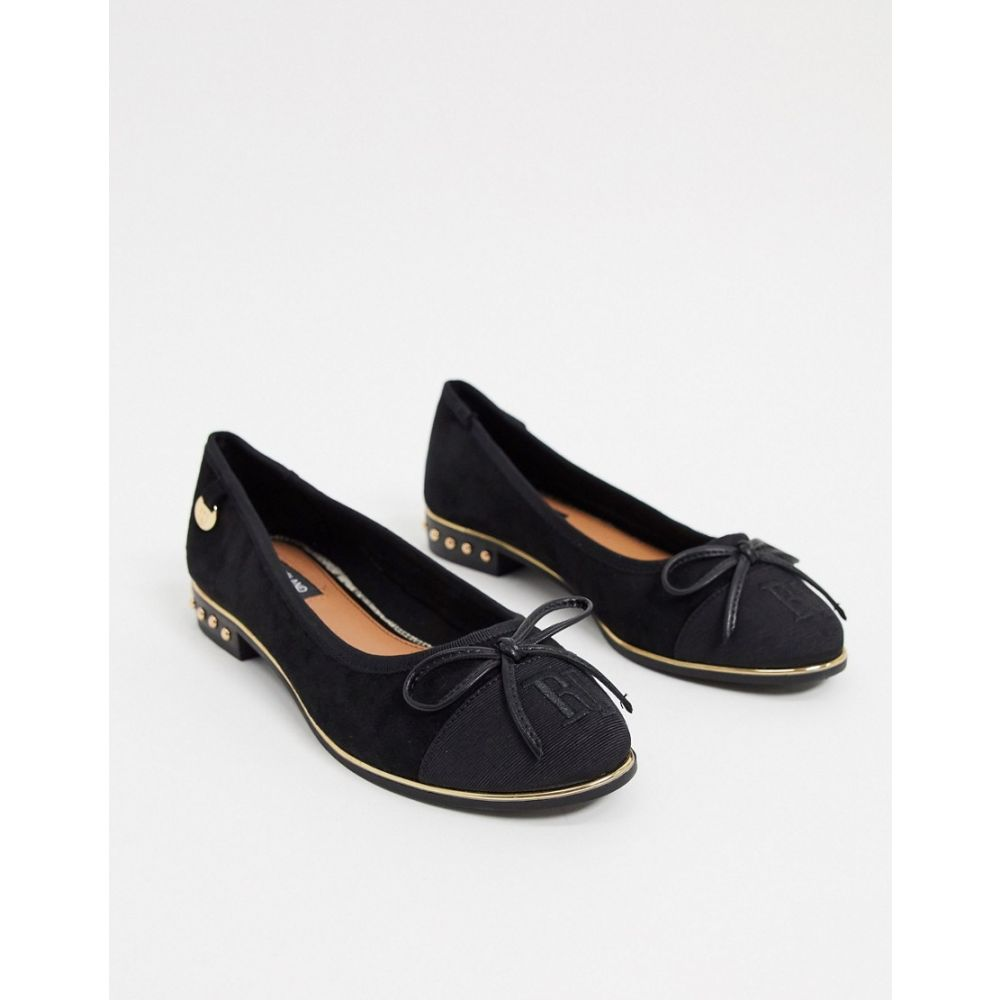 リバーアイランド River Island レディース パンプス シューズ・靴【bow front pump shoes in black】Black