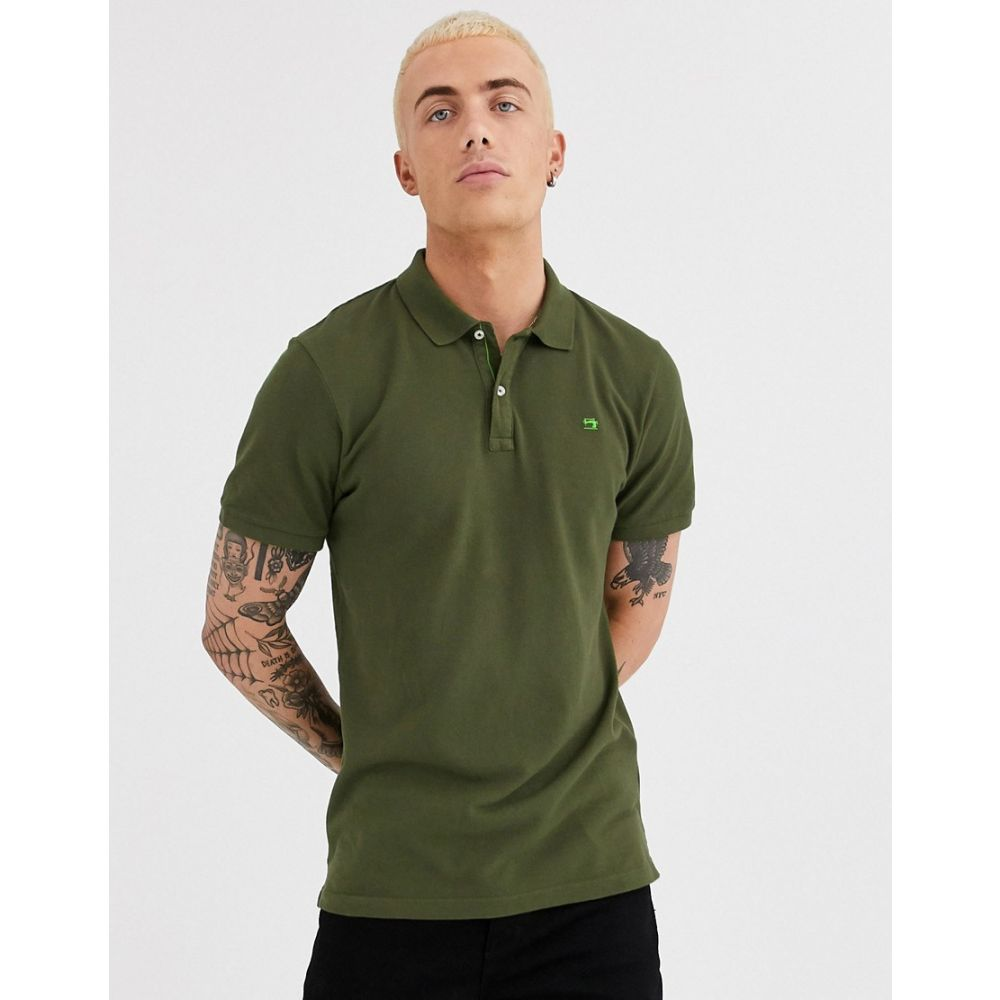スコッチ&ソーダ Scotch & Soda メンズ ポロシャツ トップス【garment dyed polo shirt】Green