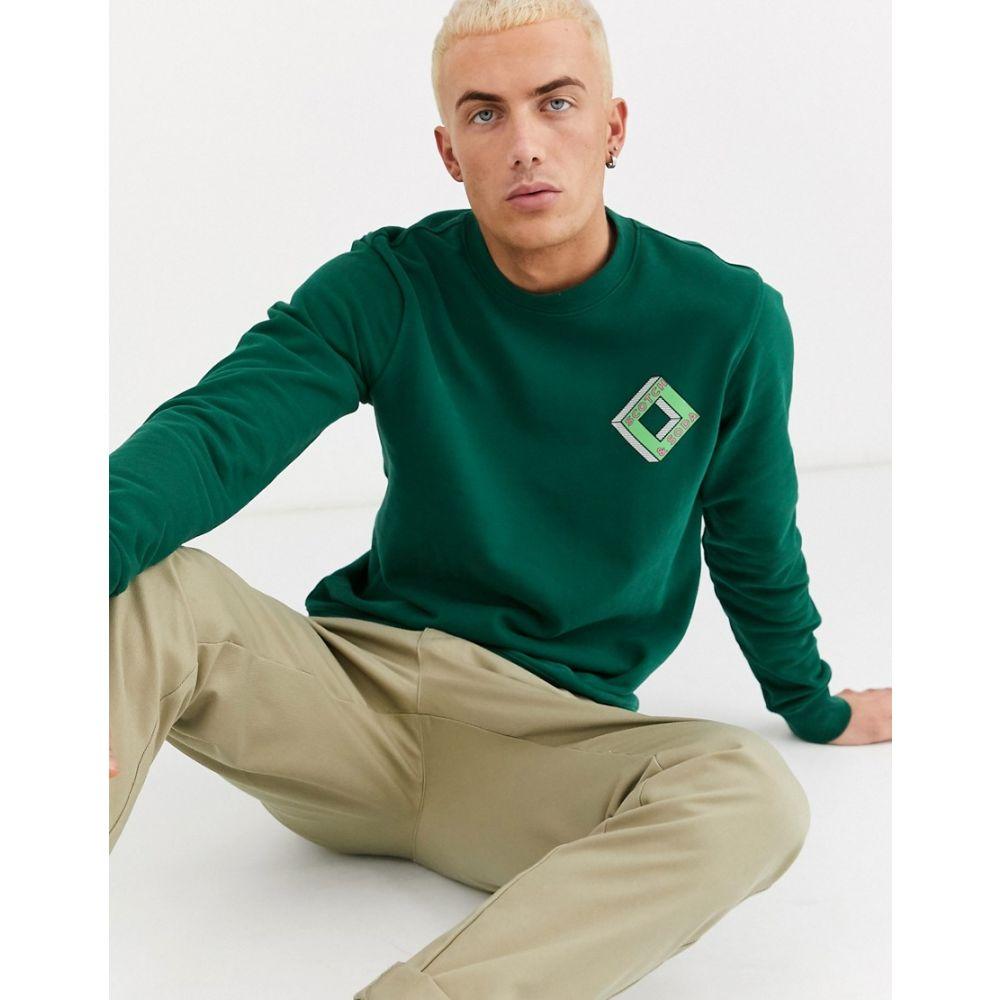 スコッチ&ソーダ Scotch & Soda メンズ スウェット・トレーナー トップス【chest print crew neck sweatshirt】Green
