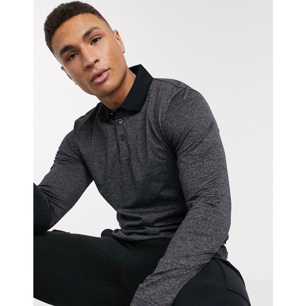 ヒューゴ ボス BOSS メンズ ポロシャツ トップス【Business Pleins long sleeve polo shirt】Black