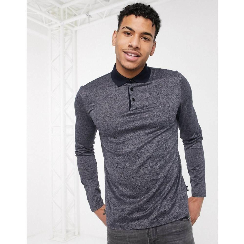 ヒューゴ ボス BOSS メンズ ポロシャツ トップス【Business Pleins long sleeve polo shirt】Blue