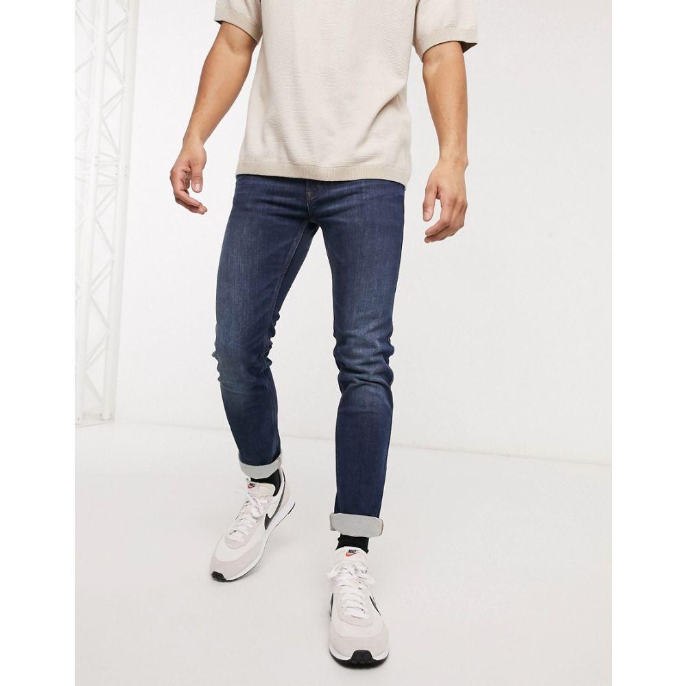 ヒューゴ ボス BOSS メンズ ジーンズ・デニム ボトムス・パンツ【HUGO Hugo 708 skinny fit jeans】Navy
