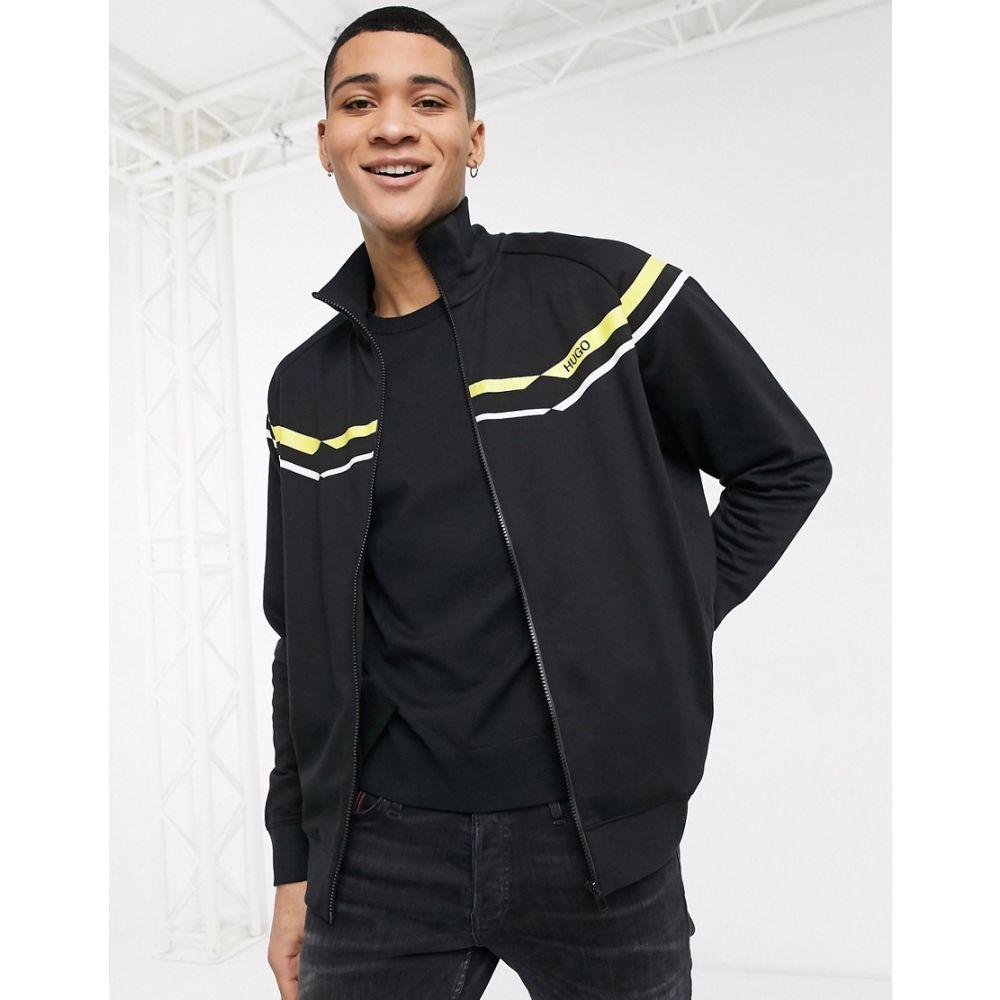 ヒューゴ ボス BOSS メンズ ジャージ アウター【HUGO Duxi chevron track jacket】Black