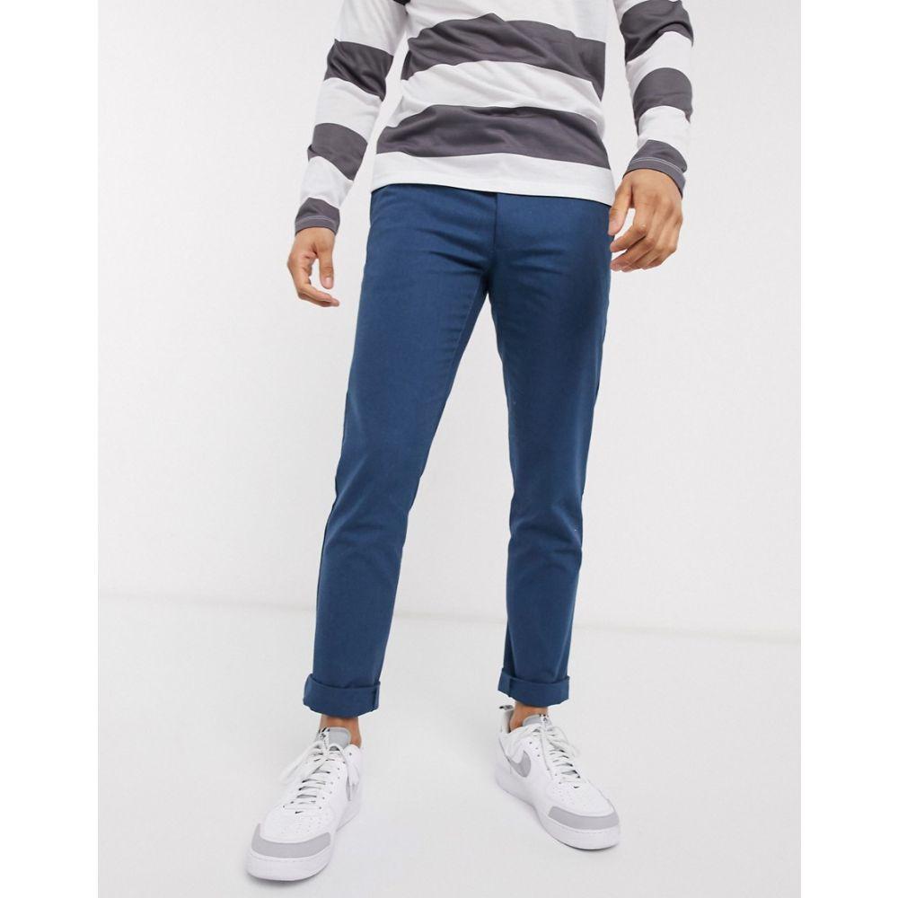 ファーラー Farah メンズ チノパン ボトムス・パンツ Elm cotton chino trousers Blue354RLAj