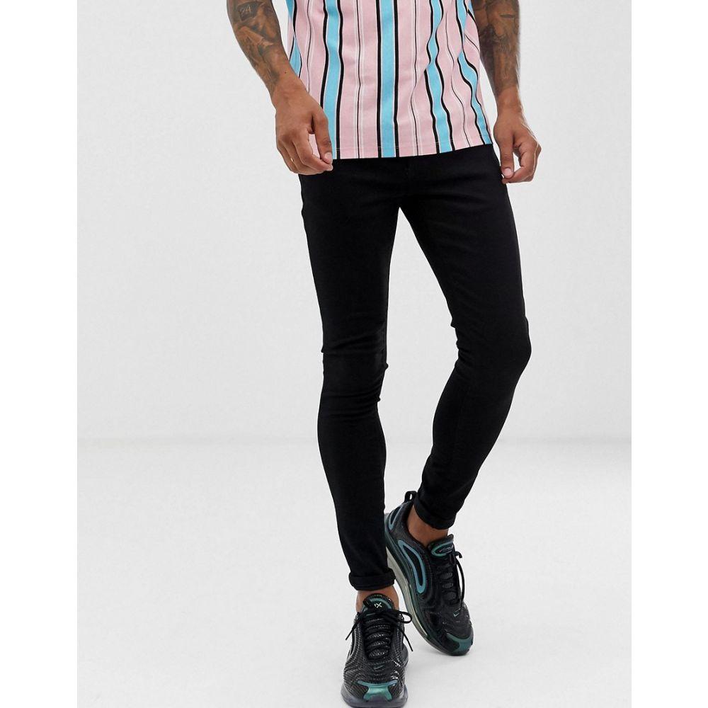 リバーアイランド River Island メンズ ジーンズ・デニム ボトムス・パンツ【spray on skinny jeans in black】Black