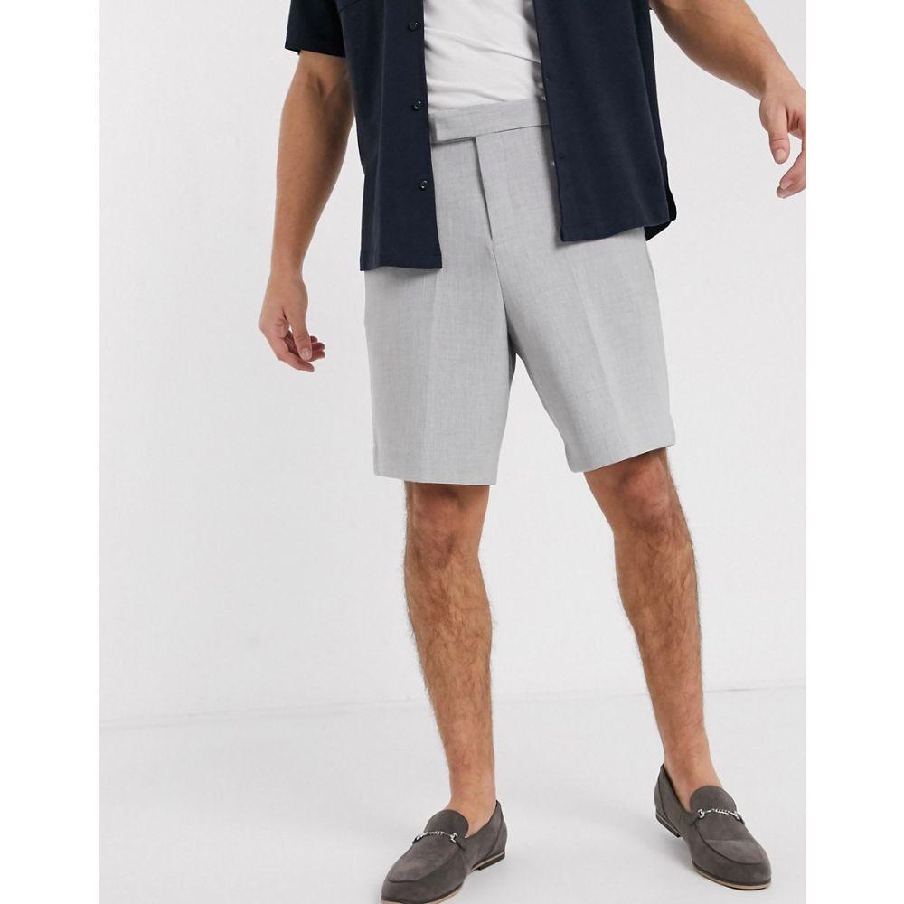 エイソス ASOS DESIGN メンズ ショートパンツ ワイドパンツ ボトムス・パンツ【wide leg smart shorts in grey】Grey