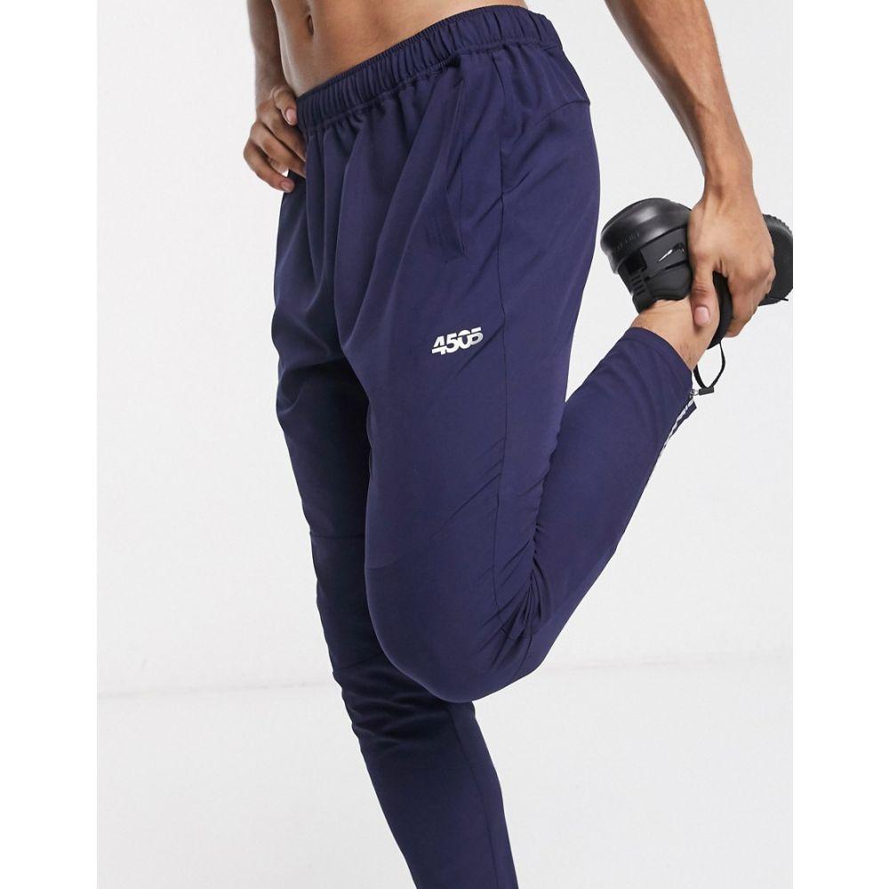 エイソス ASOS 4505 メンズ ジョガーパンツ ボトムス・パンツ【woven skinny tapered running joggers with reflective zip detail in navy】Navy