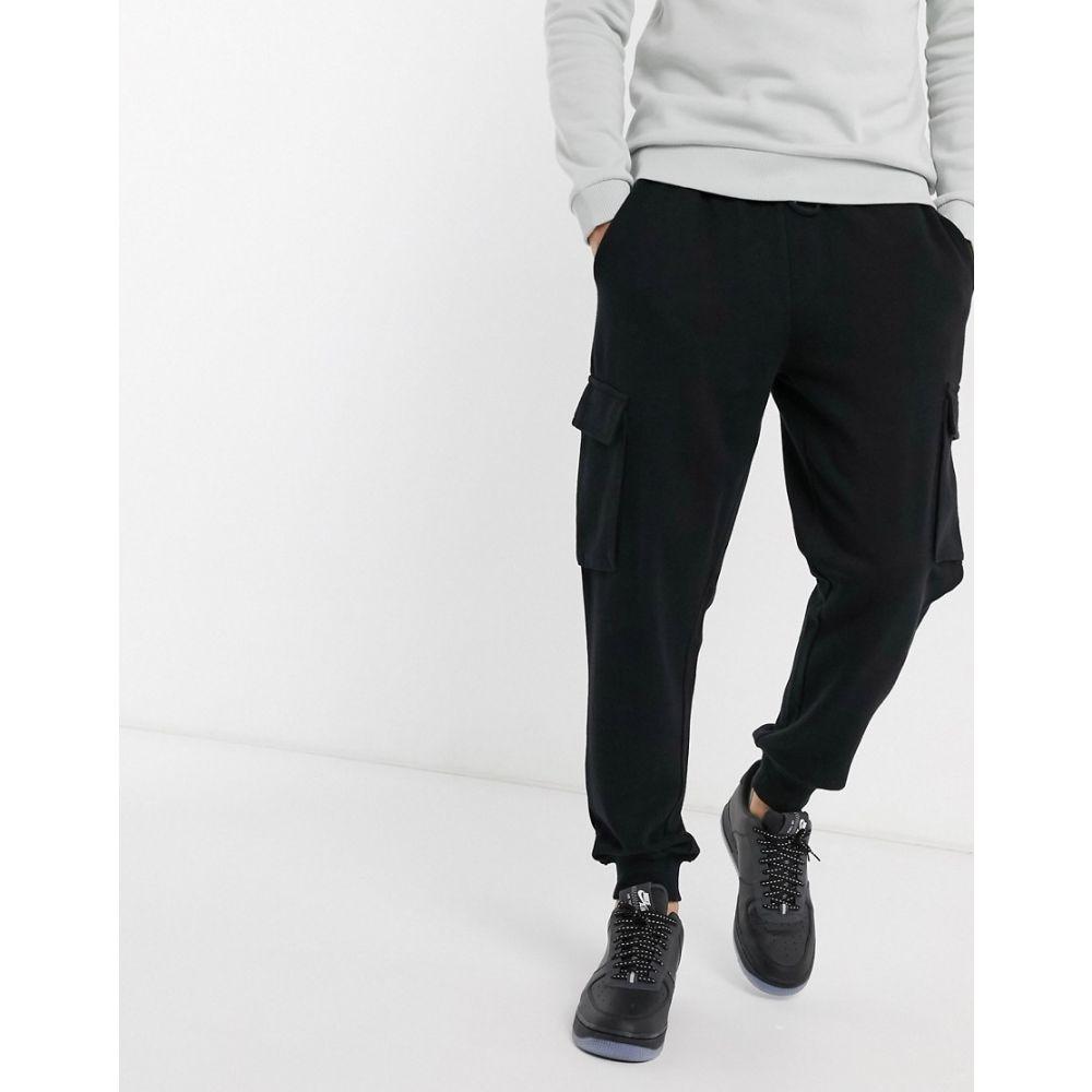 トップマン Topman メンズ ジョガーパンツ ボトムス・パンツ【cargo joggers in washed black】Washed black