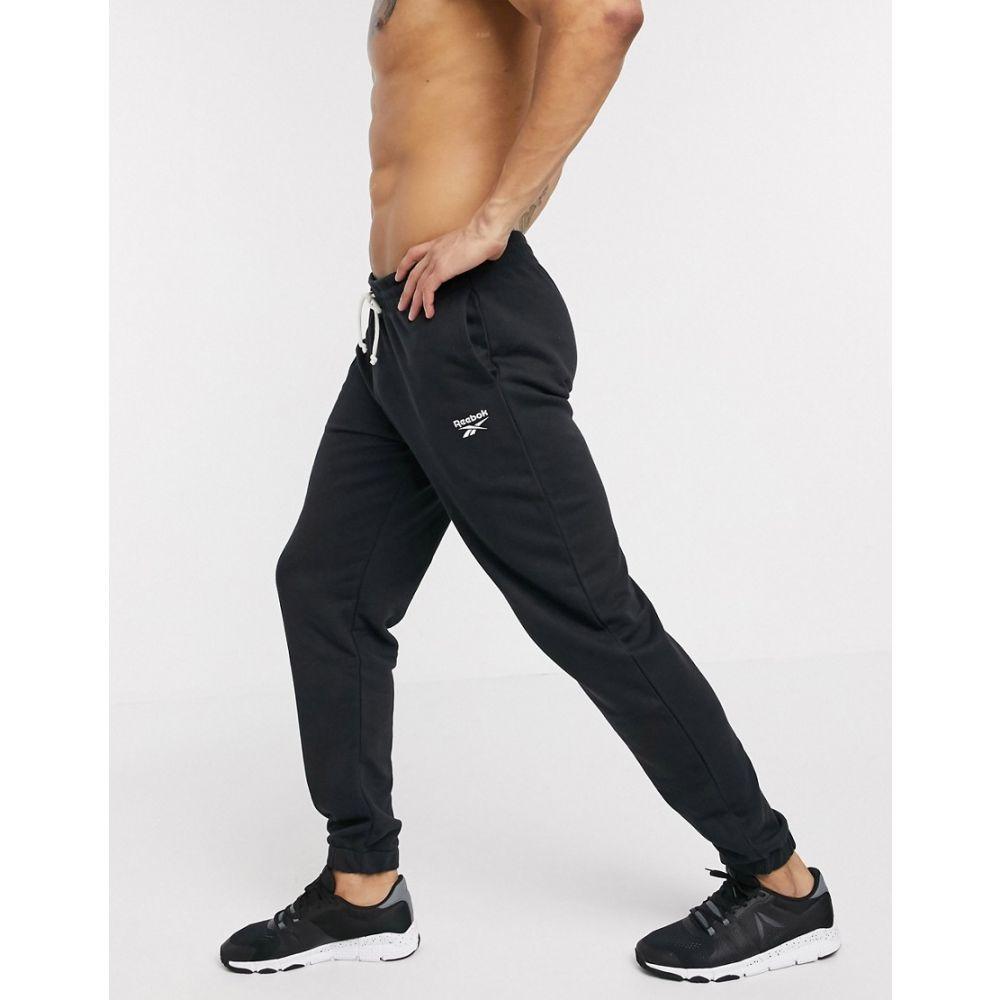 リーボック Reebok メンズ ジョガーパンツ ボトムス・パンツ【Training cuffed joggers in black】Black
