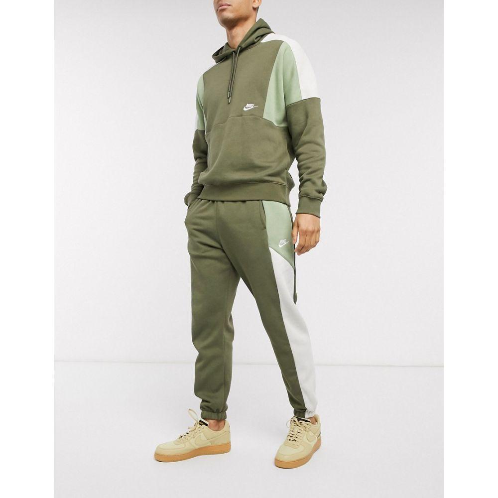 ナイキ Nike メンズ ジョガーパンツ ボトムス・パンツ【colourblock cuffed joggers in khaki】Khaki
