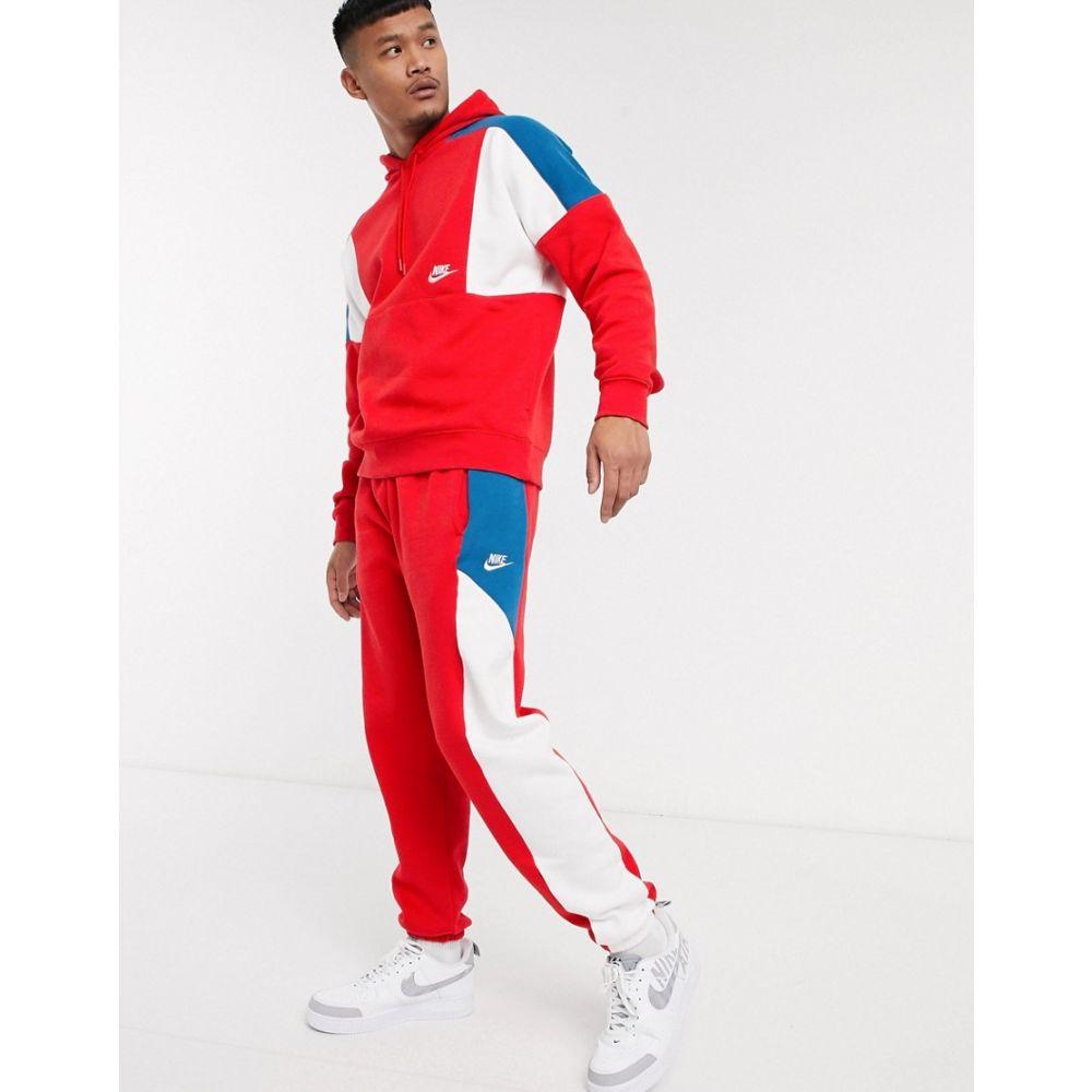 ナイキ Nike メンズ ジョガーパンツ ボトムス・パンツ【colourblock cuffed joggers in red】Red