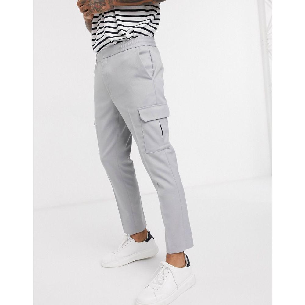 トップマン Topman メンズ カーゴパンツ ボトムス・パンツ【cargo trousers in grey】Grey