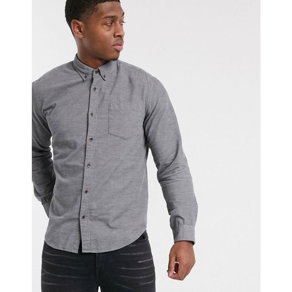 エスプリ Esprit メンズ シャツ トップス【organic shirt in cord in grey】Grey