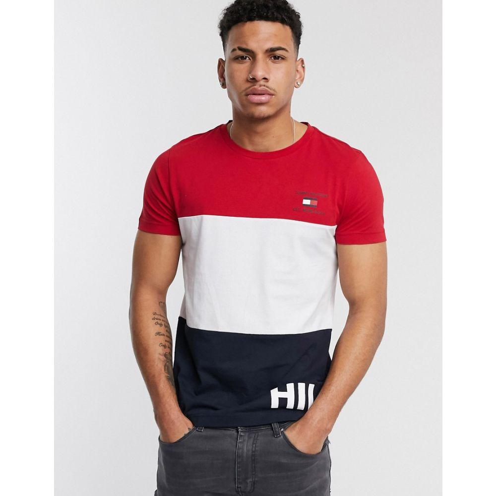 トミー ヒルフィガー Tommy Hilfiger メンズ Tシャツ トップス【Icon Colourblock Capsule logo t-shirt in red/white/navy】Red/white/navy