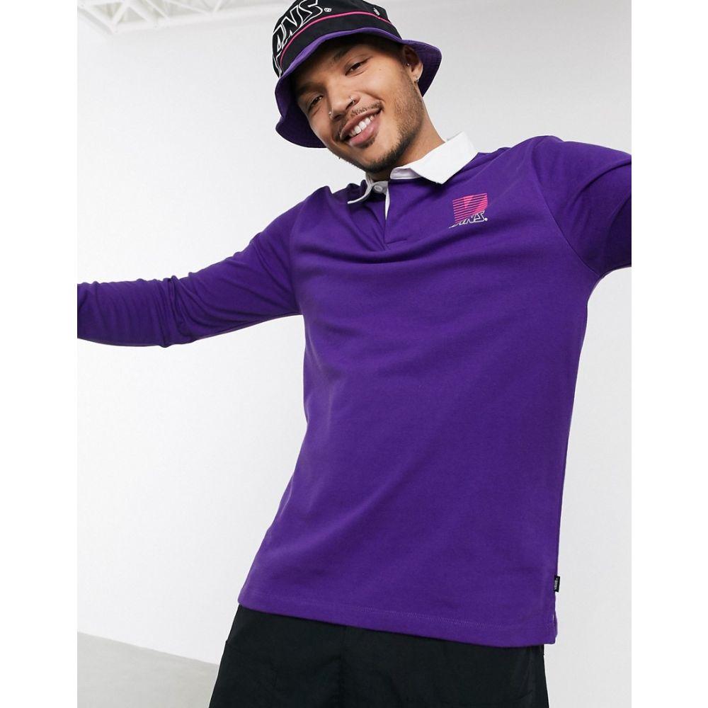 ヴァンズ Vans メンズ ポロシャツ トップス【Retro Sport long sleeve polo shirt in purple】Heliotrope