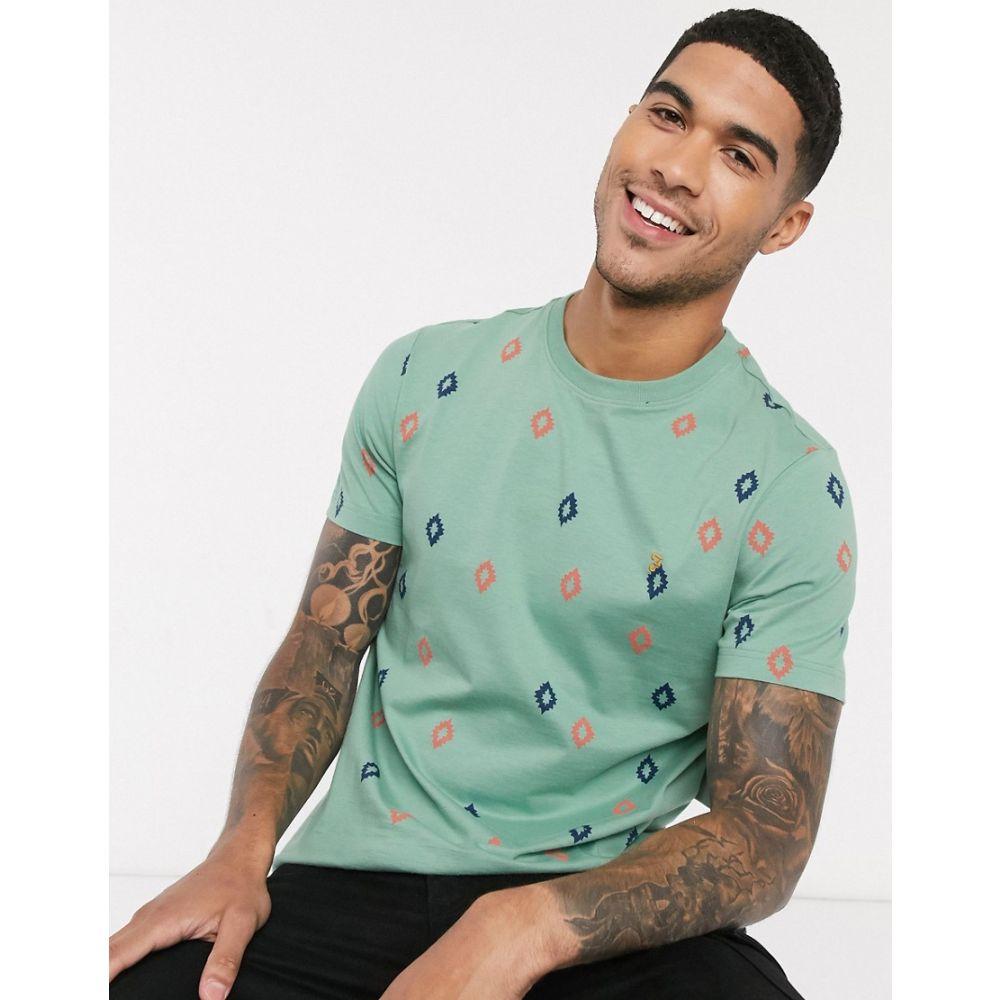ファーラー Farah メンズ Tシャツ トップス【Chaffee print t-shirt in green】Green