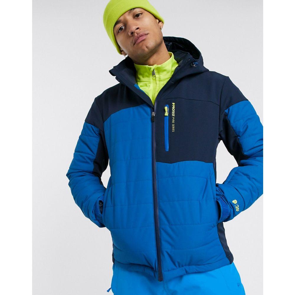 プロテスト メンズ スキー・スノーボード アウター Blue 【サイズ交換無料】 プロテスト Protest メンズ スキー・スノーボード ジャケット アウター【Mount ski jacket in blue】Blue