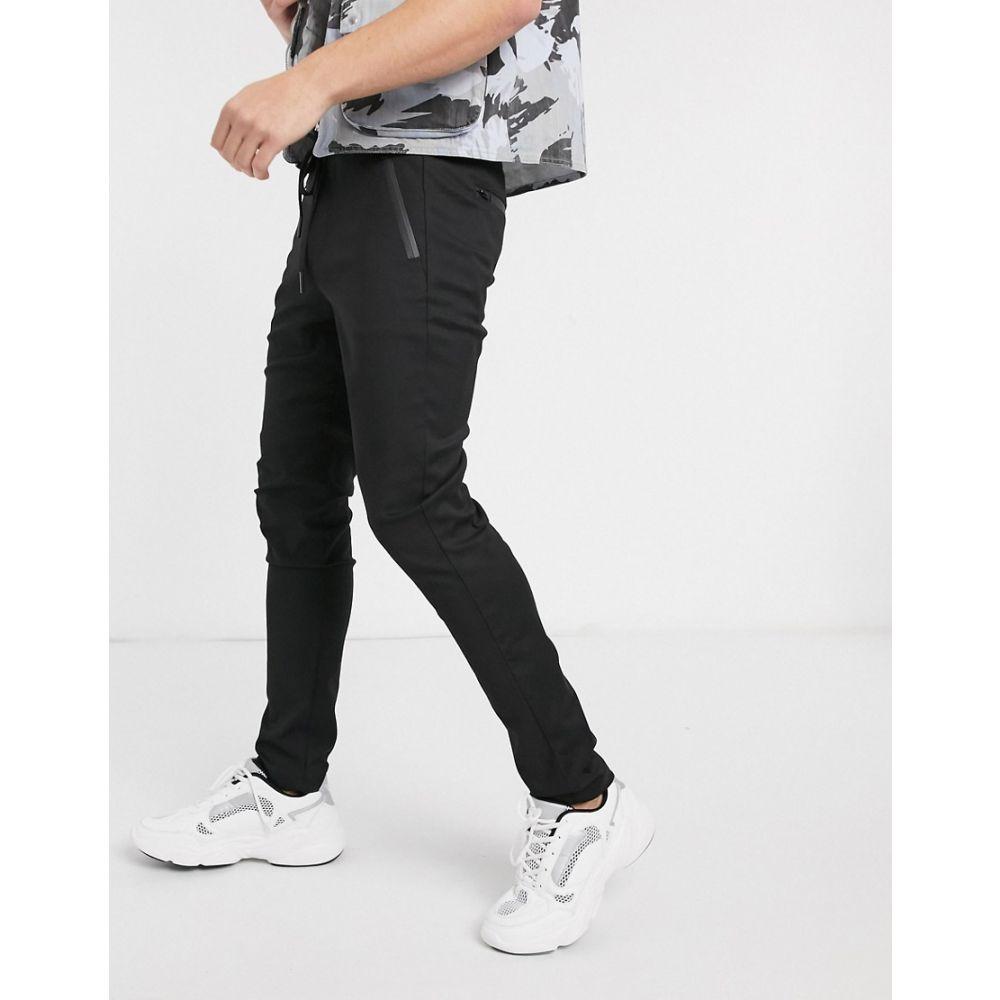 リプレイ Replay メンズ ボトムス・パンツ 【tapered fit draw string trousers in black】Black