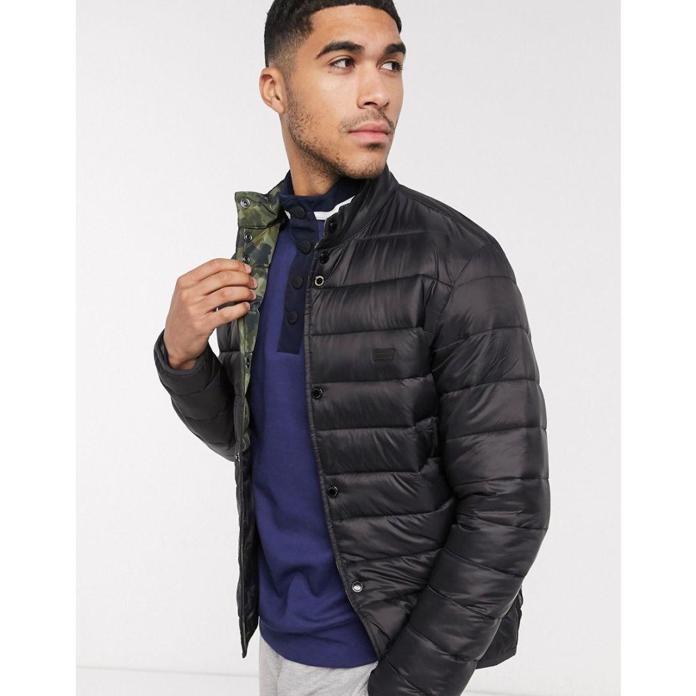 バブアー Barbour International メンズ ジャケット アウター【Mark quilted jacket with camo lining in black】Black