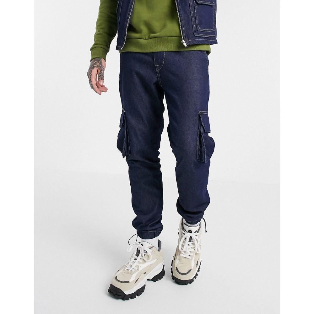ジャック アンド ジョーンズ Jack & Jones メンズ ジーンズ・デニム ボトムス・パンツ【Originals utility cargo jeans in dark rinse】Blue denim