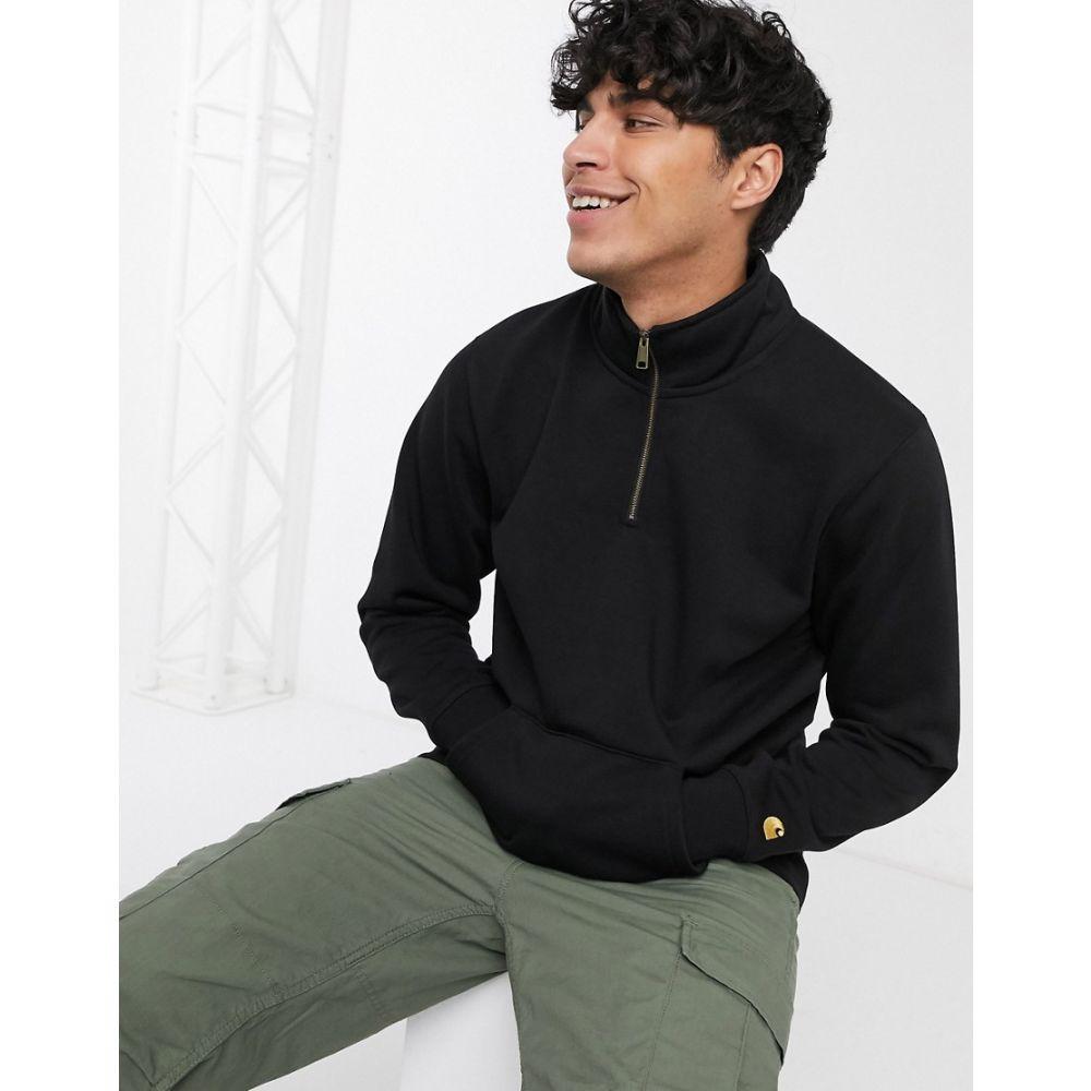 カーハート Carhartt WIP メンズ スウェット・トレーナー トップス【Chase neck zip sweatshirt in black】Black/gold