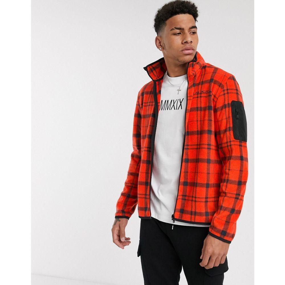 トムテイラー Tom Tailor メンズ フリース トップス【fleece check jacket】Red