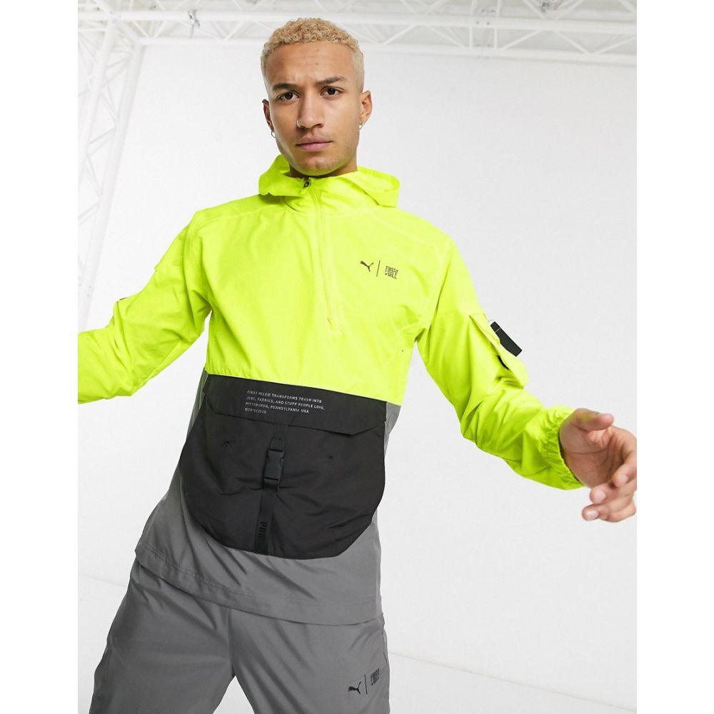 プーマ Puma メンズ ジャケット アウター【Running First Mile jacket in neon yellow】Yellow
