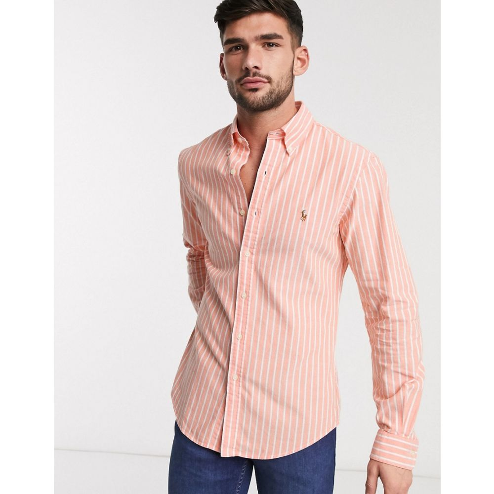 Polo Ralph Lauren SLIM FIT Pink and White Stripe Dress Shirt XL