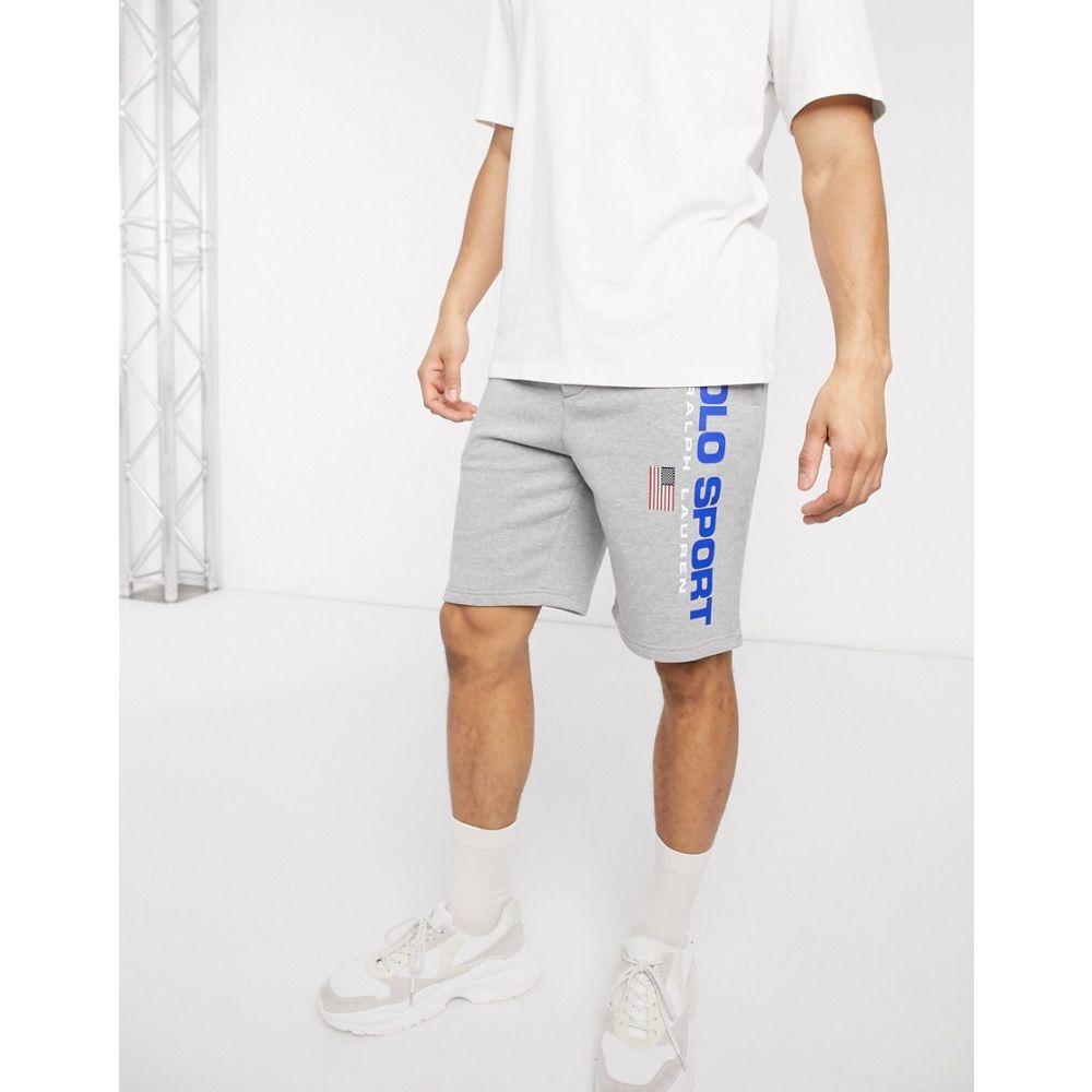 ラルフ ローレン Polo Ralph Lauren メンズ ショートパンツ ボトムス・パンツ【Sport Capsule flag logo sweat shorts in grey marl】Andover heather